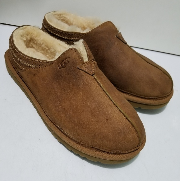 de2f20c679d Men's Ugg Neuman Leather Slippers Size 10